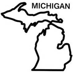 Printable Outline Of Michigan by Michigan Pattern Use The Printable Outline For Crafts Creating Stencils Scrapbooking And