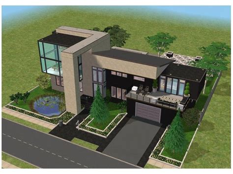 sims 3 modern house floor plans 1000 id 233 es sur le th 232 me minecraft modern house blueprints