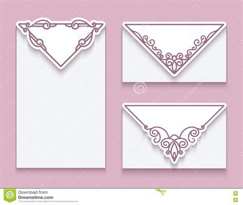 Envelope Templates With Corner Ornament Stock Vector