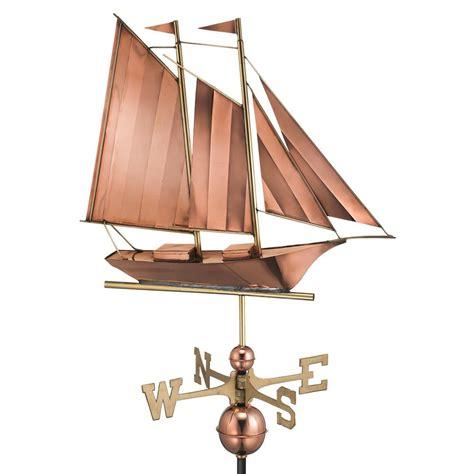 directions schooner weathervane copper 9601p