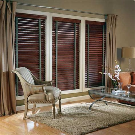 wood blinds with curtains edmonton window blinds window shades by hunter douglas