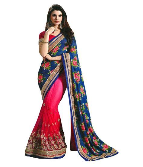 Orderan A N Sari laxmipathi suit n sarees blue georgette saree buy laxmipathi suit n sarees blue georgette