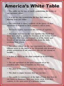 veterans day quot white table quot display description sign