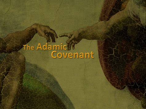 genesis covenant the adamic covenant genesis 1 3