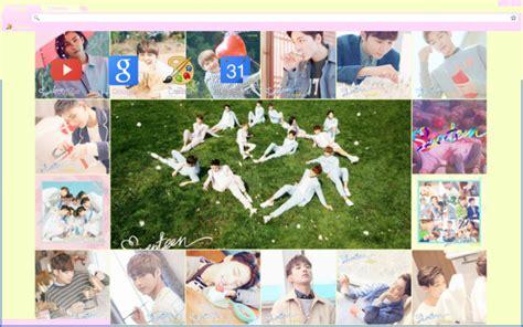 kpop google chrome themes seventeen pretty u chrome theme themebeta