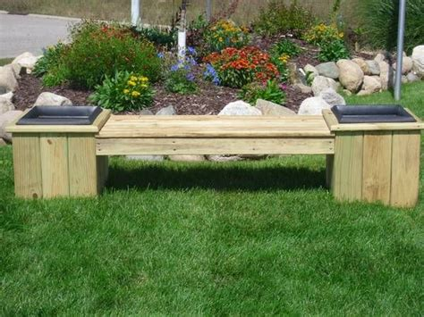 flower pot bench plans flower pot bench outdoor living pinterest