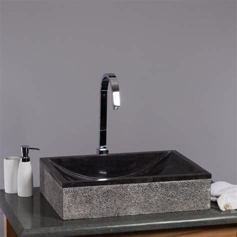waschbecken bad schwarz marmor waschbecken perahu 50cm geh 228 mmert schwarz bei