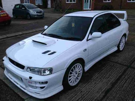 subaru white car subaru 1999 impreza turbo 2000 awd white car for sale