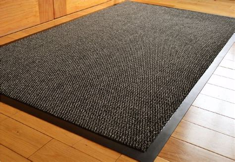 matt rug home office heavy duty barrier mat runner non slip black rubber rug ebay