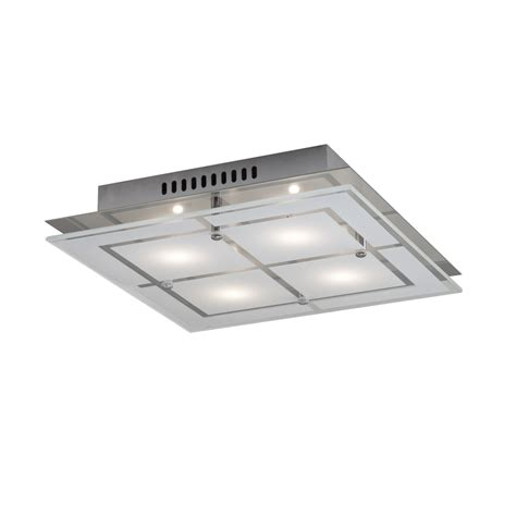 küchenle led shop kichler 11 81 in w chrome led flush mount light at