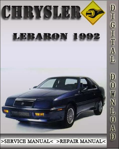service manual car owners manuals free downloads 1992 dodge ram wagon b350 engine control 1992 chrysler lebaron factory service repair manual download manu
