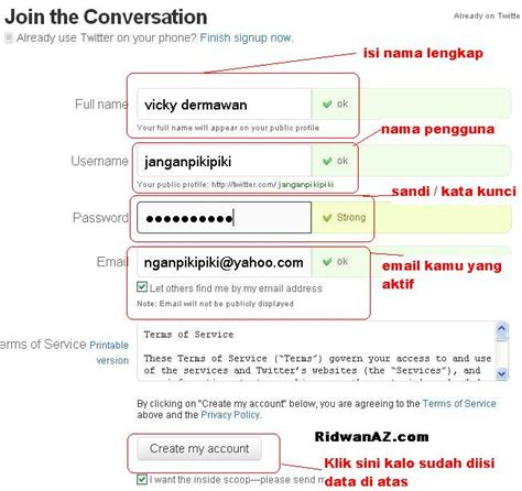 membuat twitter com tutorial membuat twitter welcome to my blog