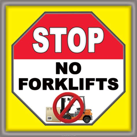 Sticker Safety Sign Forklift Traffic Area Floor Stop Signs Floors Doors Interior Design