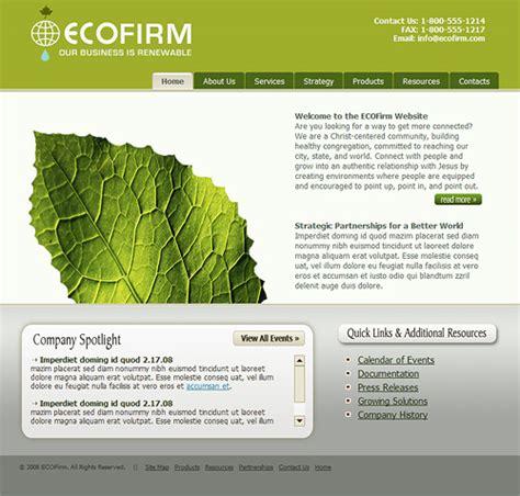 Eco Business Template Eco Friendly Website Template Friendly Website Templates