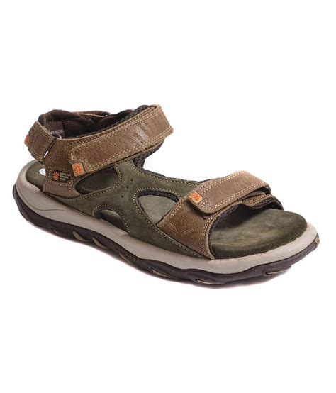woodland leather sandals buy woodland khakhi leather sandals for snapdeal