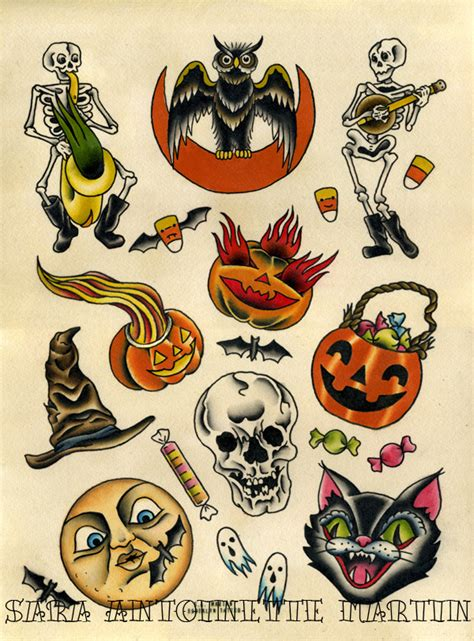 halloween tattoo flash beastie weenie flash 2012