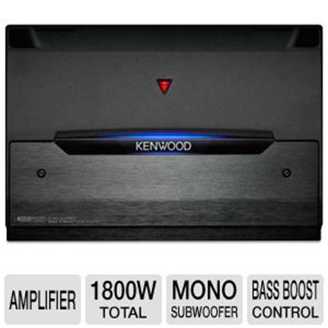 kenwood kac  mono power amplifier class   watts  ohm stable bass boost control