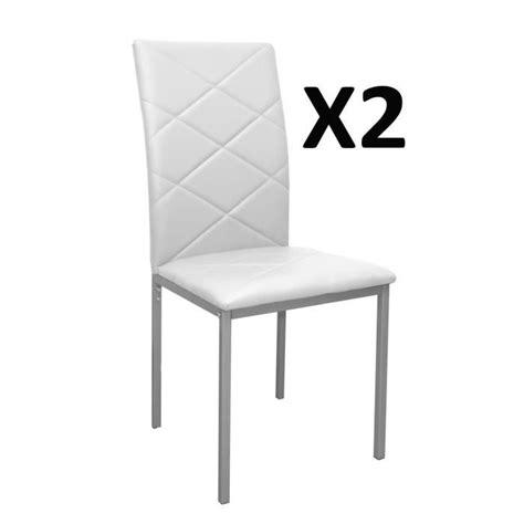 Table Et Chaise De Salle A Manger 950 by Lot De 2 Chaises Blanche Rev 234 Tement Pu 510 X 430 X 950 Mm