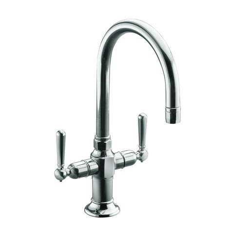 kohler bar sink stainless kohler hirise 2 handle bar faucet in polished stainless
