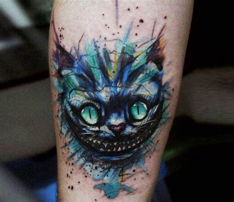 22 awesome cheshire cat tattoos cheshire cat by andrey stepanov best tattoos