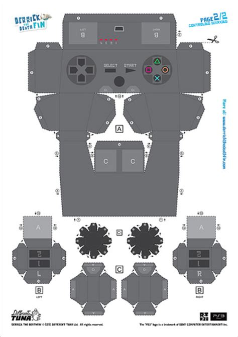 Playstation Papercraft - derrick the deathfin dualshock 3 papercraft page 2 flickr