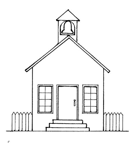 coloring pages of a school house school house outline cliparts co