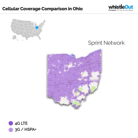 sprint usa coverage map best cell phone coverage in ohio whistleout