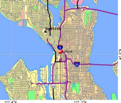 Seattle Washington Zip Codes Map by Zip Code Seattle Washington Map