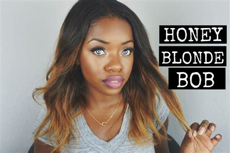 blonde bob dark skin how to get a honey blonde color bob initial review
