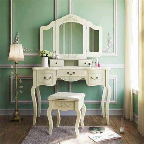 tribesigns french vintage ivory white vanity dressing
