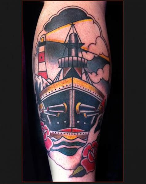 waden old schiff tattoo von chapel tattoo