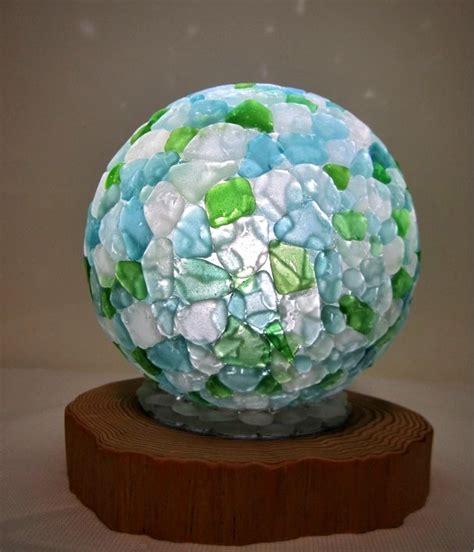sea glass l shade mosaic sea glass l shade