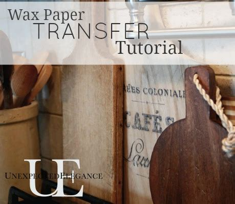Transfer Paper For Wood Crafts - transfer images using wax paper tutorial