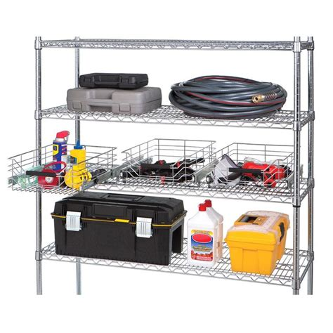wire sliding storage drawer seville classics chrome wire sliding storage