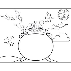 witch cauldron coloring page cauldron witch drawing sketch coloring page