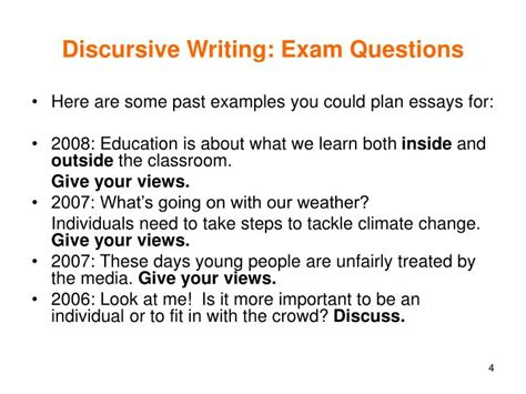 Writing A Discursive Essay by Ppt Discursive Writing Powerpoint Presentation Id 3137942
