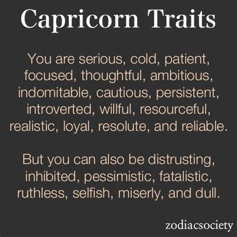 capricorn traits good and bad who i am capricorn