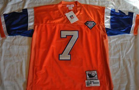 denver broncos elway 7 1994 orange throwback jersey