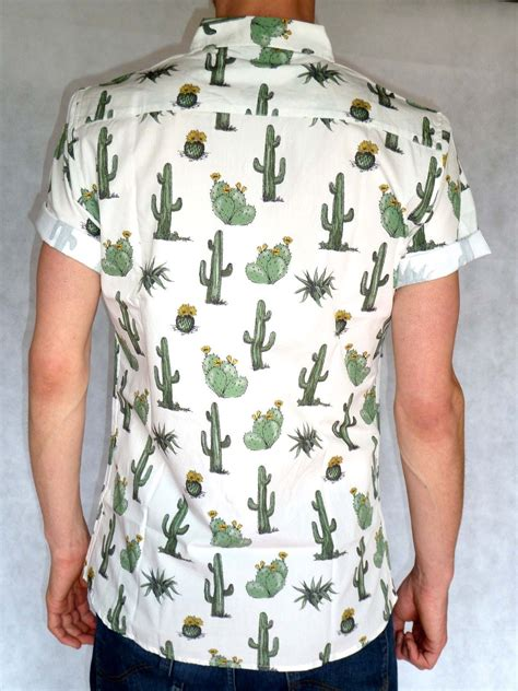 Sleeve Cactus T Shirt cactus sleeve retro shirt white