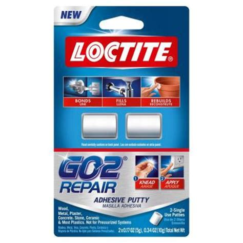 loctite 0 34 oz go2 repair putty 2 pack 1722005 the