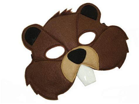 printable beaver mask children s woodland animal beaver felt mask magical attic