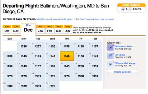 Jetblue Deal Calendar Blitz Deal Southwest Airlines Dec 2014 Feb 2015 Fares