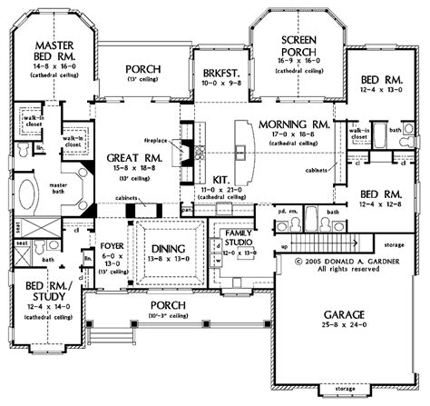one story two master bedroom house plans