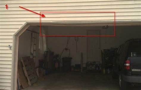 Opening For Garage Doors by How To Fix Rotting Wood In The Top Of Garage Door Opening