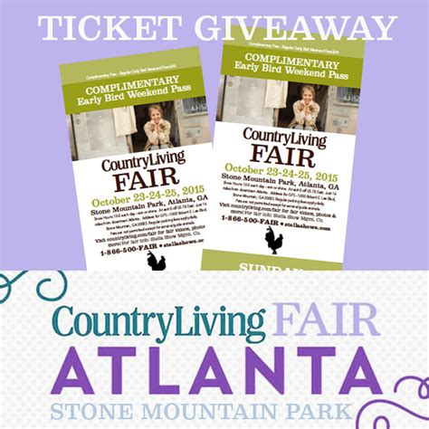 Ticket Giveaway - who wants to go to the country living fair
