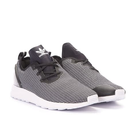 black and white pattern zx flux adidas zx flux adv asymmetrical white black s79054