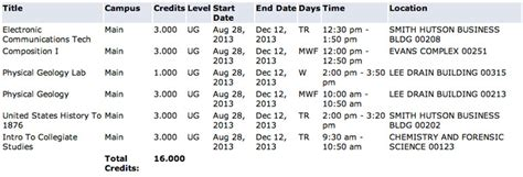 Columbia Mba Dates by College College Class Schedule