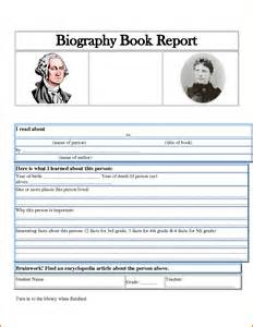 biography book report for 5th grade