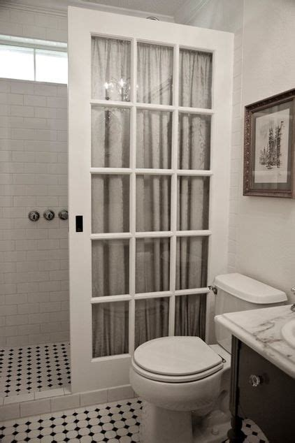 curtain that looks like a door old french pocket door used instead of an expensive glass