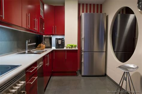 red kitchen design ideas pictures of kitchens modern red kitchen cabinets